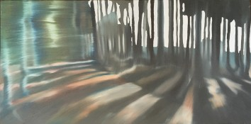 Cloud Path, Oil on canvas, 12 x 24