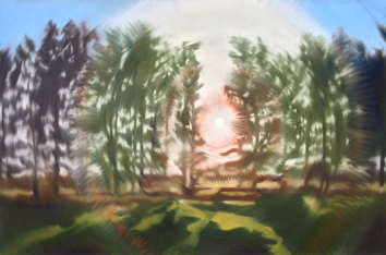 Delirious Sunset, Oil on canvas, 40 x 60