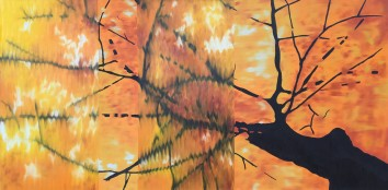 Fall Disruption, Oil on canvas, 30x60