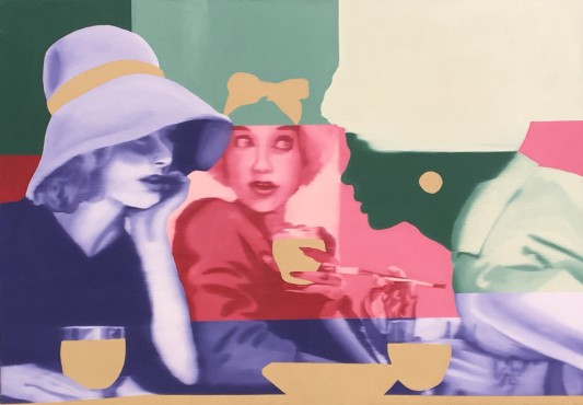 Gossip, Oil on canvas, 24x36