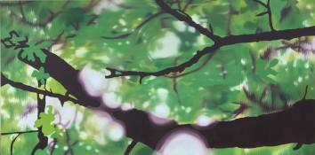 Spring Swirl, Oil on canvas, 30 x 60