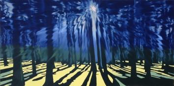 Promise of Shadows, Oil on canvas, 30 x 60