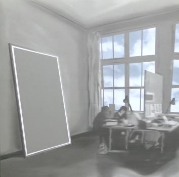 Studiomates, Oil on canvas, 40x40
