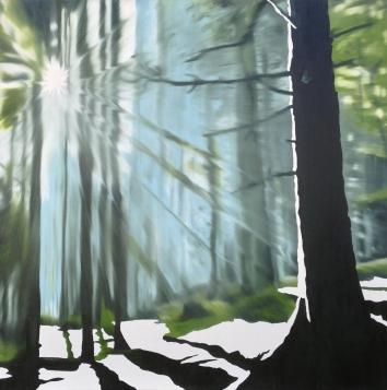 Wildlife, Oil on canvas, 48 x 48