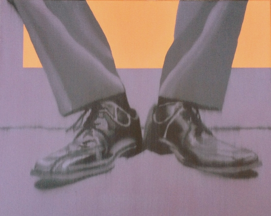 Dress Shoes Purple, Oil on canvas, 16 x 20