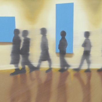 Field Trip, Oil on canvas, 20 x 60